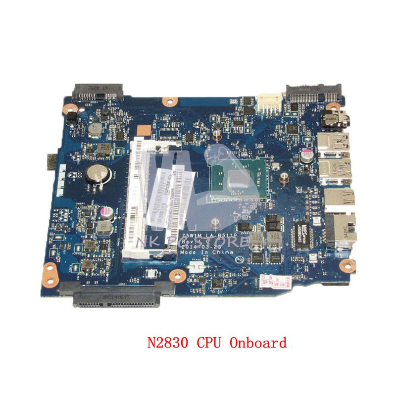 NOKOTION NB.MML11.002 NBMML11002 For Acer aspire ES1-511 Laptop Motherboard N2830 CPU DDR3 Z5W1M LA-B511P free shipping laptop motherboard for 3531 028v9w la b481p n2830 cpu