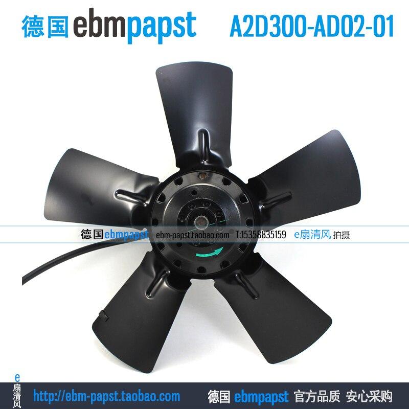 ebm papst A2D300-AD02-01 AC 230V 400V 0.31A 0.41A 180W 270W 300x300mm Outer rotor  fan new original ebm papst a2s130 ab03 11 ac 220v 240v 0 3a 50w 130x130mm outer rotor fan
