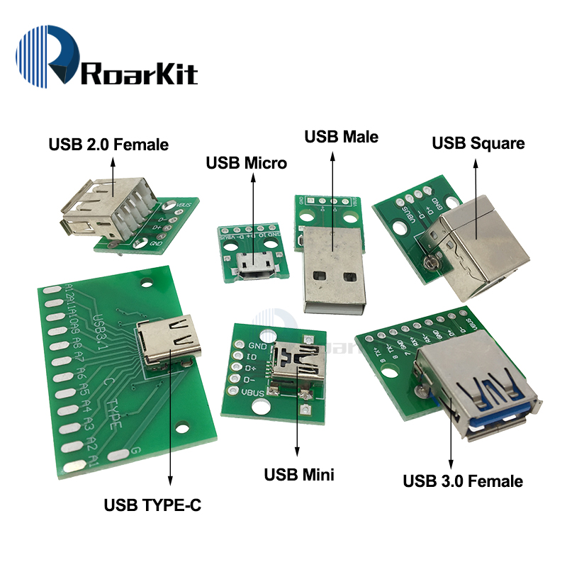 1//5 Mini USB a 5pin dip adaptador 2,54mm breadboard módulo para Arduino DIY