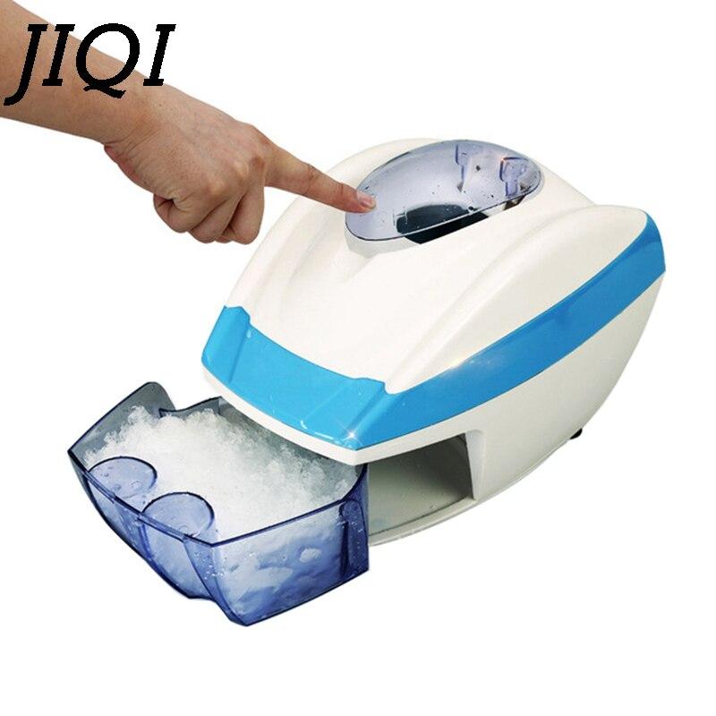 JIQI 220V Electric Ice Crushers/Shavers Full-automatic Ice Chopper Slushies Smoothies Machine 35W High Speed Ice Crushing Tools