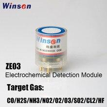 Winsen ZE03 CO/SO2/NO2/O3/H2S/CL2/O2/NH3/HF Módulo de Sensor de alta sensibilidad y resolución UART y salida de voltaje analógico, 10 Uds.