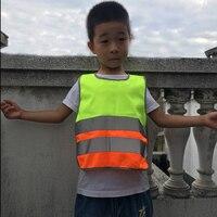 3 Размеры учеников Детская безопасность детский светоотражающий жилет школьников обучение дышащая куртка скутер Велоспорт Флуоресцентный жилет