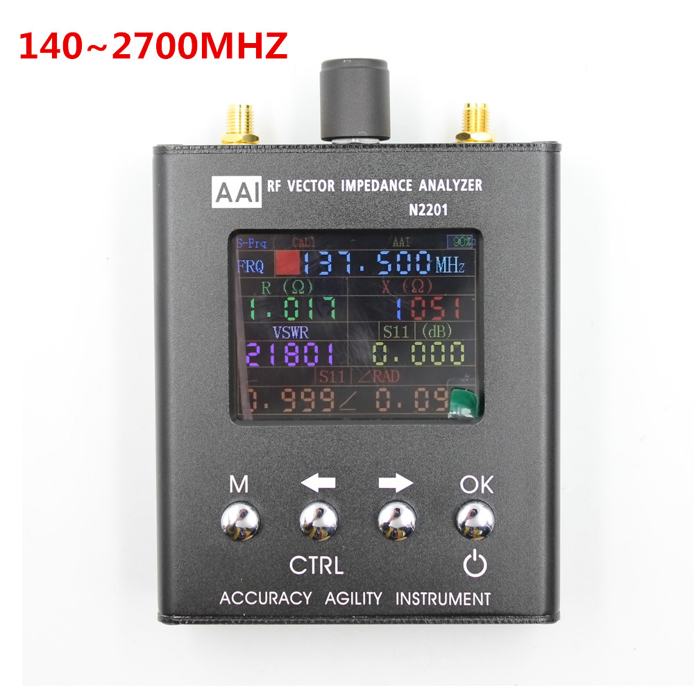 2018 N2201SS Antenna analyzer N1201SA Upgraded version 140 2700MHz High Accuracy Agility Meter Resistance impedance SWR