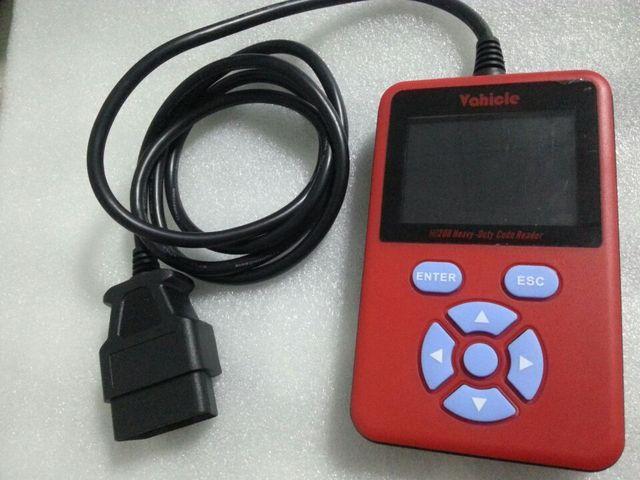 HD208 Heavy Duty Truck OBD2 Lector de Código de Avería Claros Coder Escáner Con Pantalla LCD + Y Tipo de Conector del Adaptador de Diagnóstico Cable