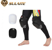 SULAITE Motorcycle Knee Protector Bicycle Cycling Bike Racing Tactical Skate Protective Knee Pads Guard Black Protection Pads