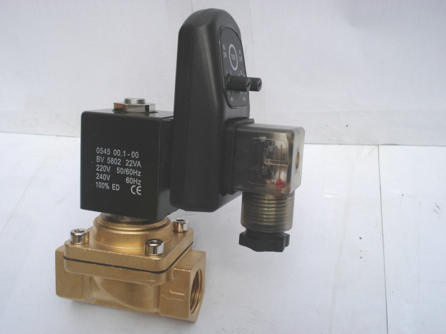 3/8 PU220 Series Air Water Gas Oil Solenoid Valve with timer 3 4 pu220 series water brass solenoid valve