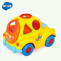 HOLA 516 детские игрушки электронный автомобиль с музыкой и светом и пазлами и фруктовой формой Сортеры Обучающие Развивающие игрушки для детей