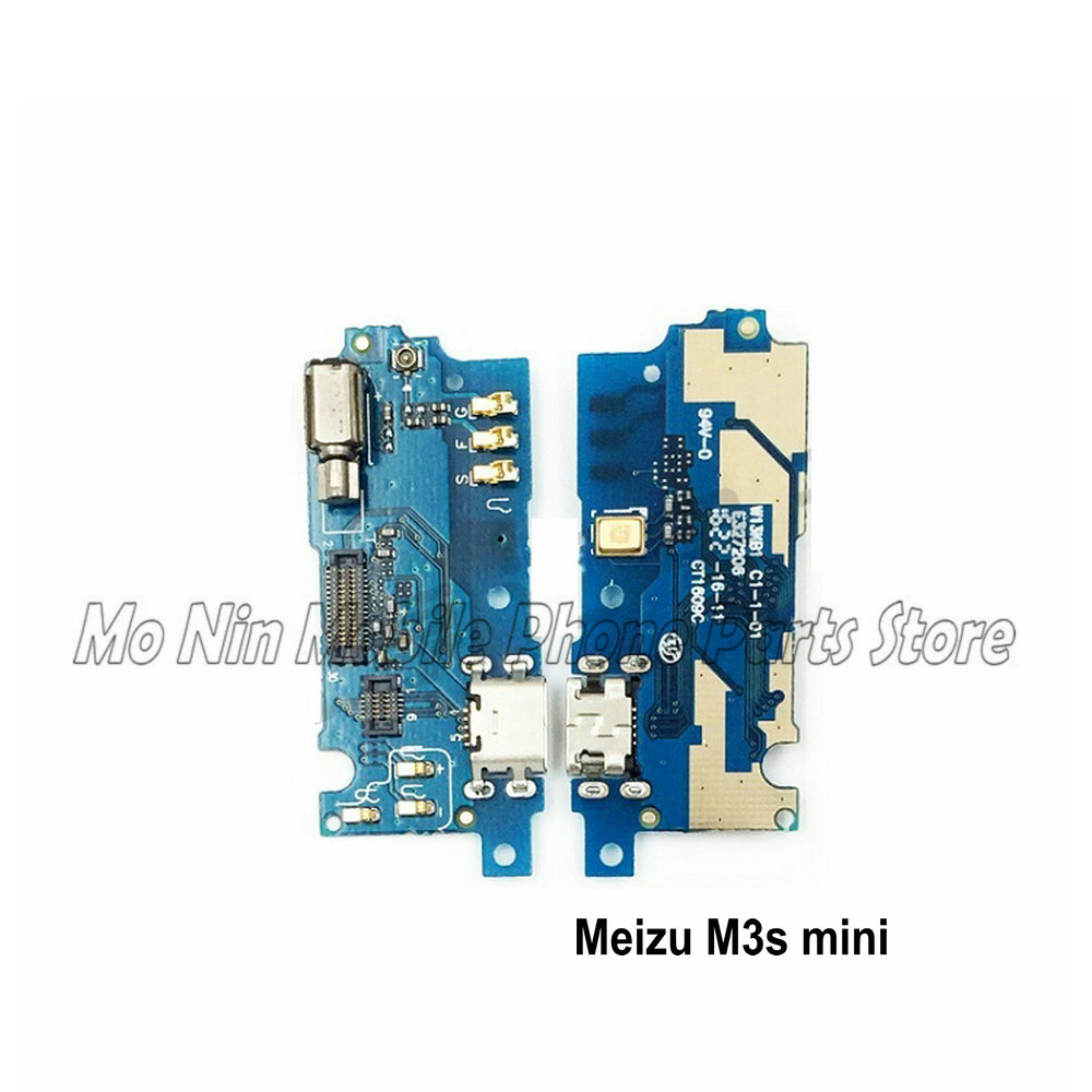 New Microphone Module+USB Charging Port Board Flex Cable Connector Parts For <font><b>Meizu</b></font> <font><b>M3S</b></font> <font><b>mini</b></font> M3Smini Replacement image