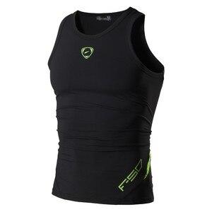 Image 1 - jeansian Sport Tank Tops Tanktops Sleeveless Shirts Running Grym Workout Fitness Slim Compression LSL3306