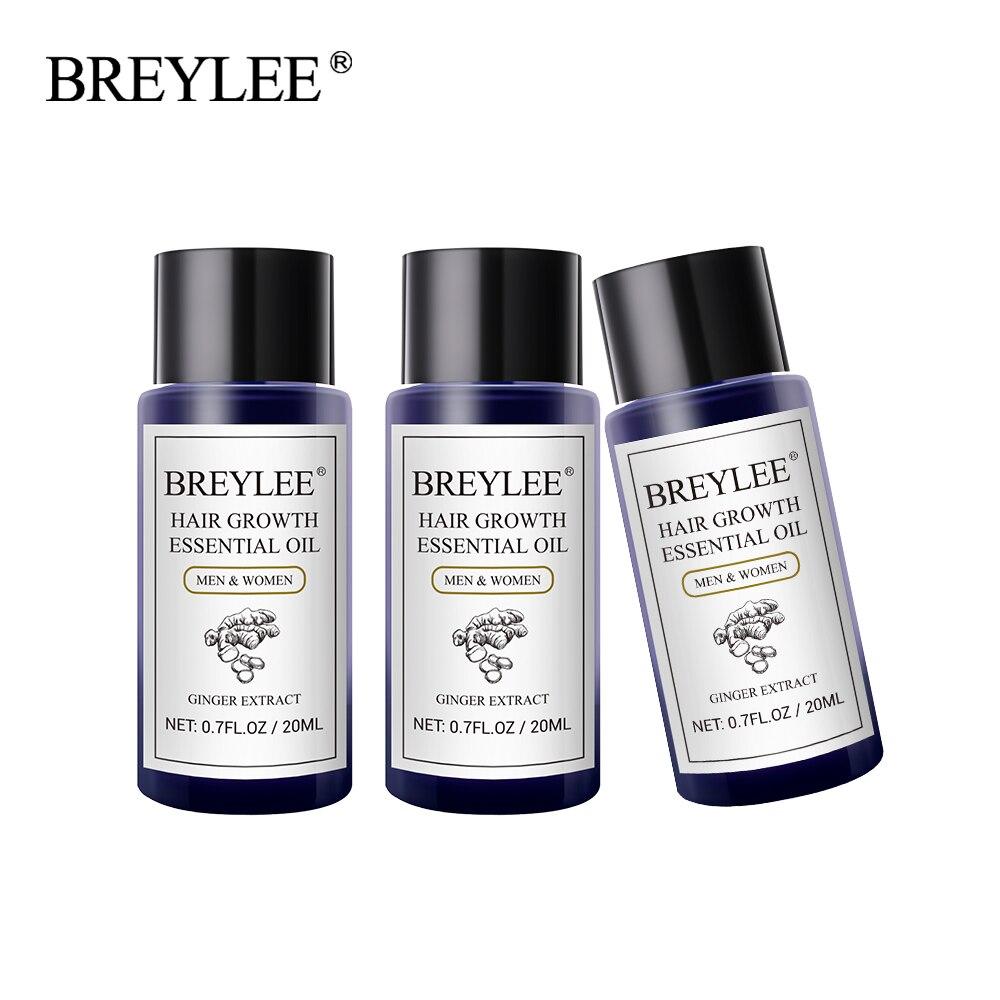 BREYLEE 3PCS Hair Growth Essential Oil Fast Powerful Hair Products Hair Care Prevent Baldness Anti-Hair Loss Serum Increase Hair