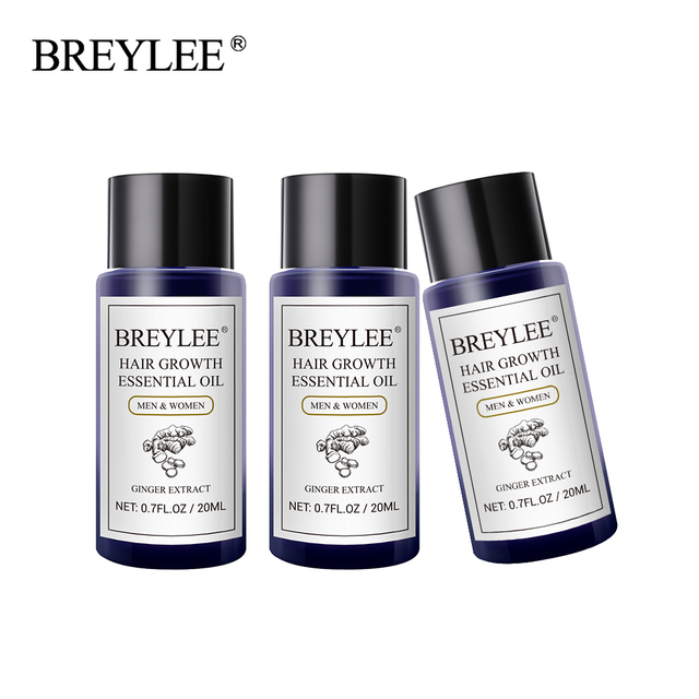 BREYLEE 3PCS Hair Growth Essential Oil Fast Powerful Hair Products Hair Care Prevent Baldness Anti Hair