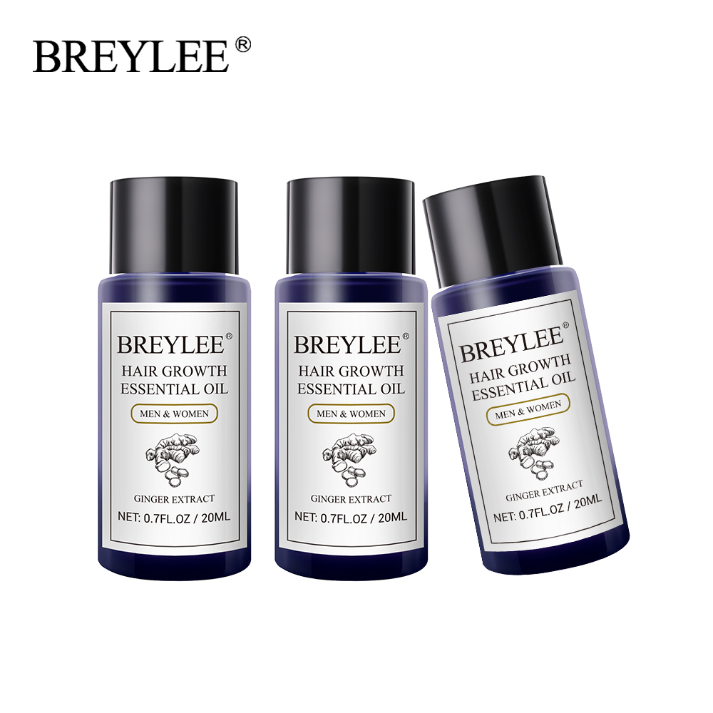 BREYLEE 3PCS Hair Growth Essential Oil Fast Powerful Hair Products Hair Care Pre