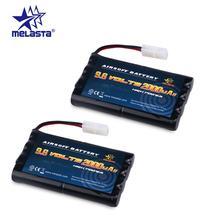 Melasta 2pcs 8S AA 9.6v 2000mAh NiMH Battery Pack with Tamiya Connector for RC Cars Boats RC Gadgets Airsoft Guns