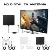 TV Antenne Intérieure HD Numérique TV Antenne avec 50 Miles de Long Gamme Amplificateur HDTV Signal Booster Amélioré Version-10ft Coaxial Câble