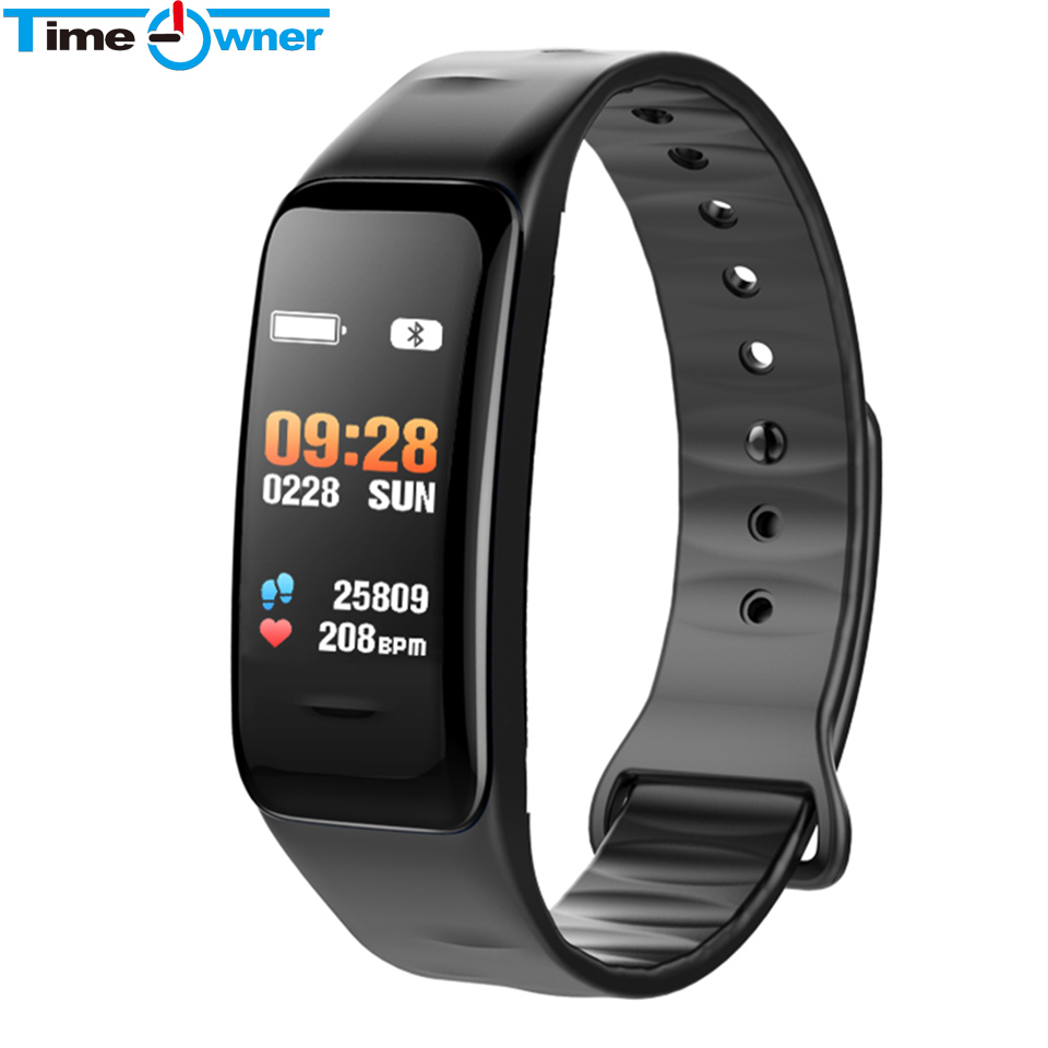 TimeOwner C1S Smart Band Color Screen Heart Rate Blood Pressure Monitor SMS Reminder Push Remote Control Music Fitness BraceletTimeOwner C1S Smart Band Color Screen Heart Rate Blood Pressure Monitor SMS Reminder Push Remote Control Music Fitness Bracelet