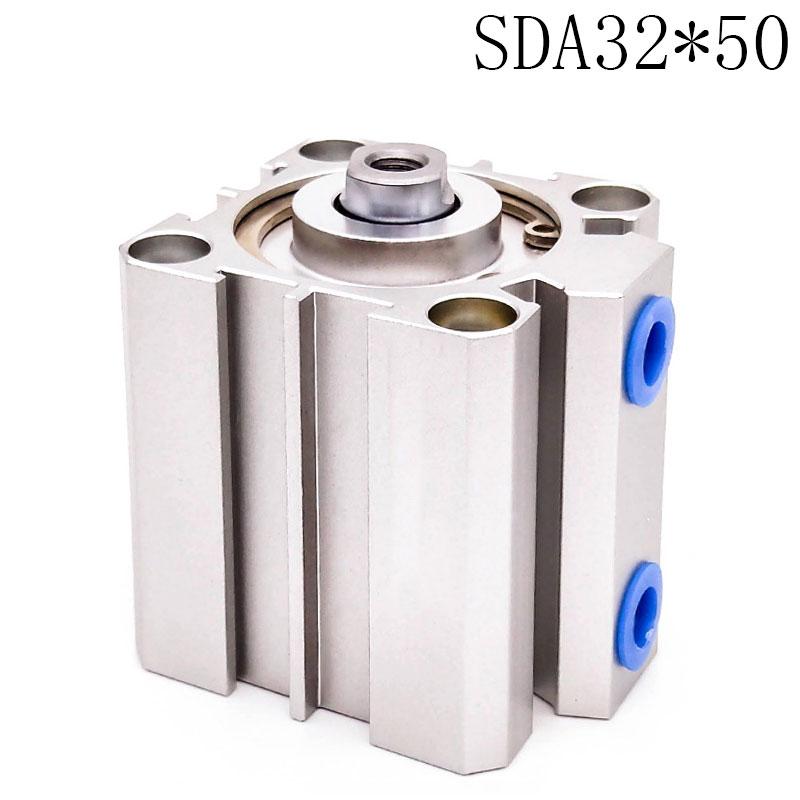 SDA32*50 Standard cylinder thin cylinder SDA Type Pneumatic Cylinder Thin Air Cylinder cylinder