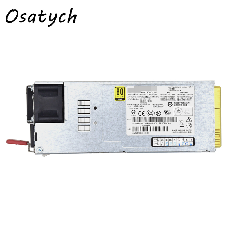 For Lenovo RD630 RD530 RD430 Server Power Supply 800W DPS800RB A 03X3822For Lenovo RD630 RD530 RD430 Server Power Supply 800W DPS800RB A 03X3822