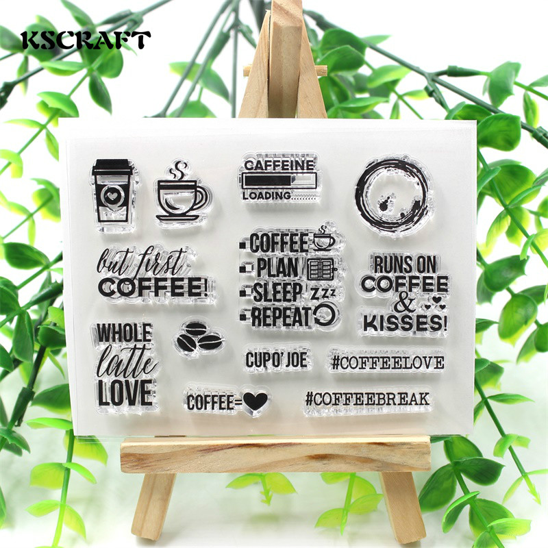 KSCRAFT Coffeebreak Transparent Clear Silicone Stamp/Seal for DIY scrapbooking/photo album Decorative clear stamp sheets chicken animals transparent clear silicone stamp seal for diy scrapbooking photo album decorative clear stamp sheets a547