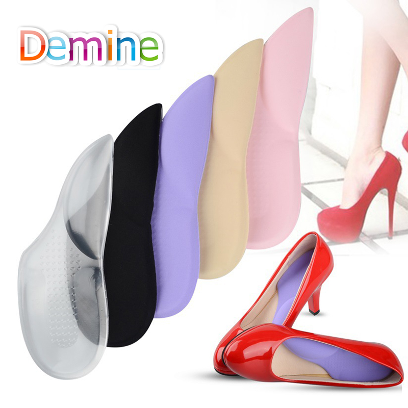 Demine1 Pair High Heel Shoes Insoles Pad Silicone Insoles Length Orthopedic Arch SupportsHigh-heel Cushion Inserts Insoles WomenDemine1 Pair High Heel Shoes Insoles Pad Silicone Insoles Length Orthopedic Arch SupportsHigh-heel Cushion Inserts Insoles Women