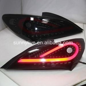 Luz traseira conduzida para hyundai para genesis coupe 2009-2011 fumaça preto wh