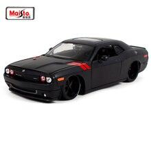 Maisto 1:24 2008 DODGE Challenger модифицированная версия модели автомобиля крутая черная литая под давлением модель автомобиля игрушка Новинка в коробке