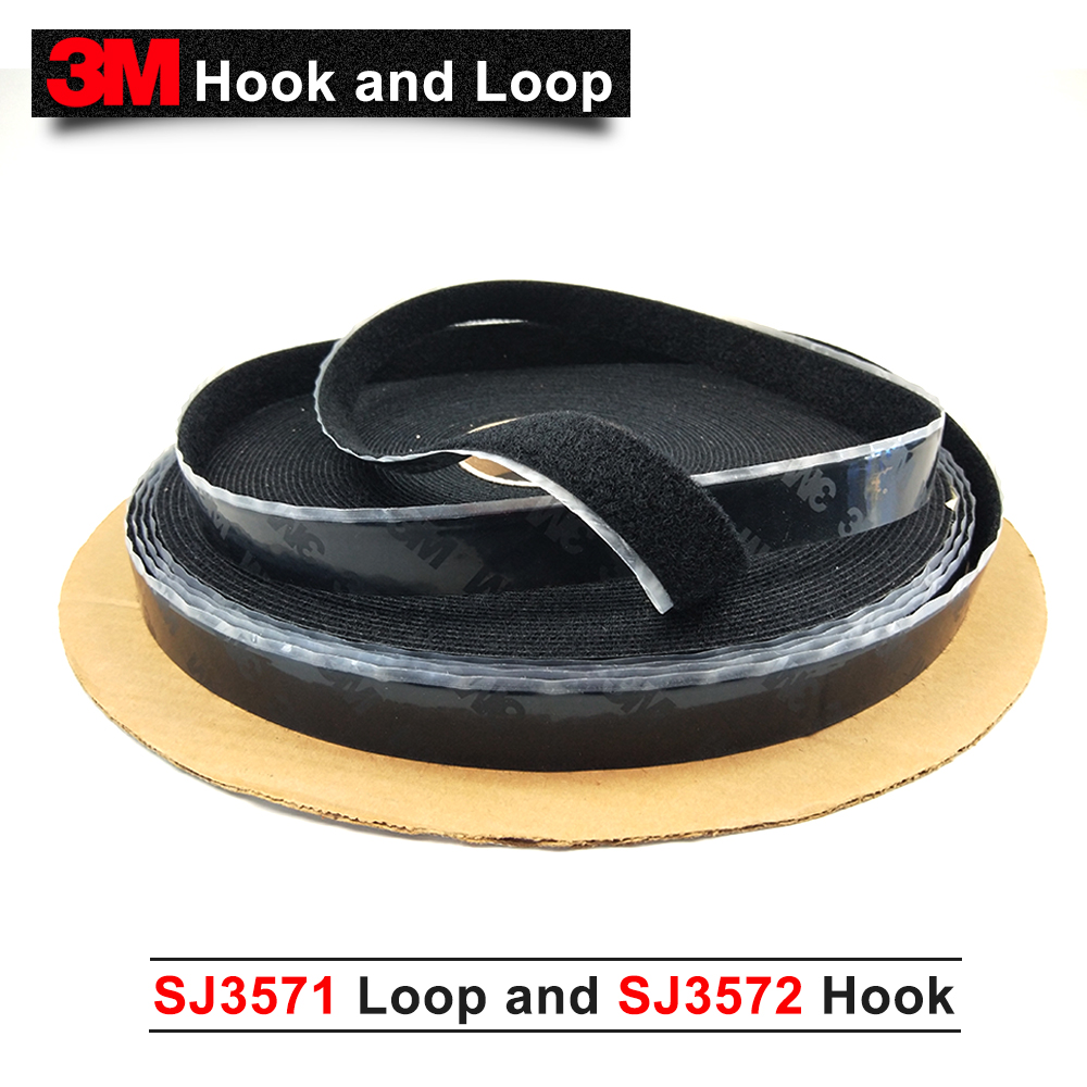 3M hook and loop belt buckle SJ3571 and SJ3572, 3M original Tape black 1in * 50 yards black hook loop fastener tape цена