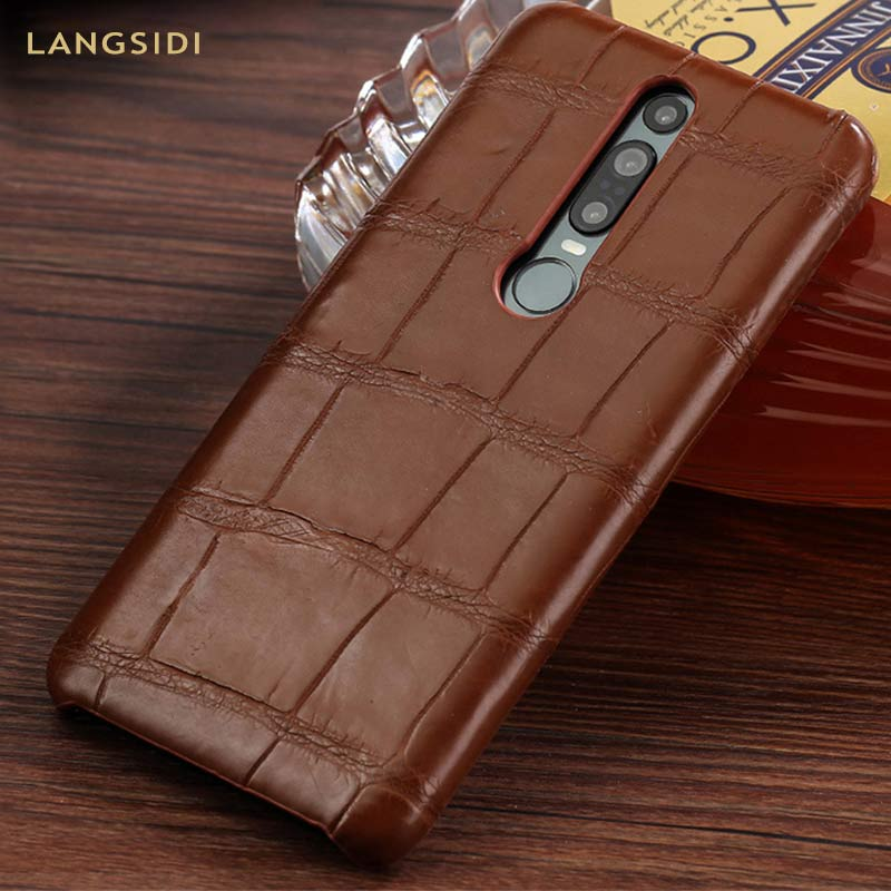 Genuine Crocodile Leather luxury cell phone case for Huawei Mate 20 30 P20 P30 Pro Lite Cover For Honor 20 Pro 10 10i v20 8x 9X - 2