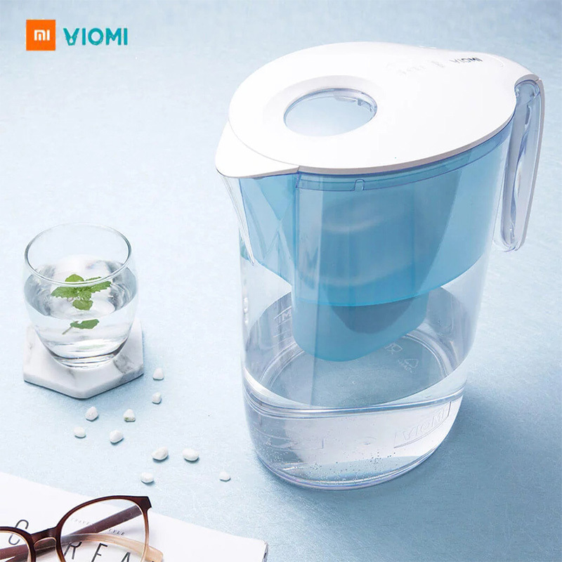 VIOMI 3.5L 220V New Water Filter Pitcher Filtration Dispenser Cup 7 Multipurpose Filters Xiaomi Water Purifier For Household nuova simonelli bottomless filter holder portafilter with 3 cup filter