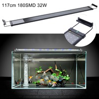 117cm Aquarium LED Lighting Fish Tank Light LED Light Aquarium Lighting Blue White Color Extendable Bracket Lamp Decor UK Plug