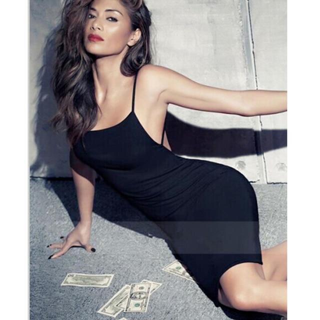 05129751f6 2019 Summer Fashion Sexy Open Low Back Backless Jersey Strappy Bodycon Mini Dress  Black Party Bandage Dresses Women Vestido Lady