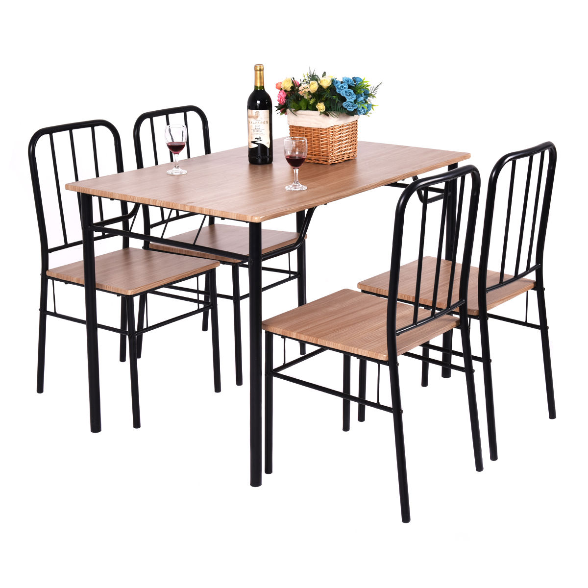 Kitchen Table And Chairs Sets: Aliexpress.com : Buy Giantex 5 Piece Dining Set Table And