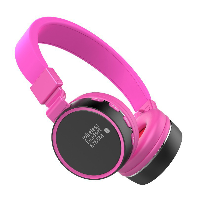 Candy Colorful Shooting Brake Bluetooth Stereo Headphones with Mic Wireless Headphones Bluetooth 4 1 Headset On Ear Headphones in Bluetooth Earphones Headphones from Consumer Electronics
