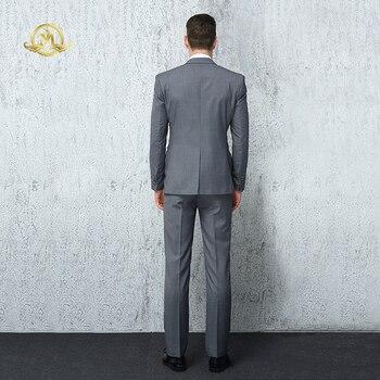 Wrwcm Custom Men Suit High Quality Custom Tailored Gray 100% Wool Support Enterprise Customization Gentleman Style Custom Made 1