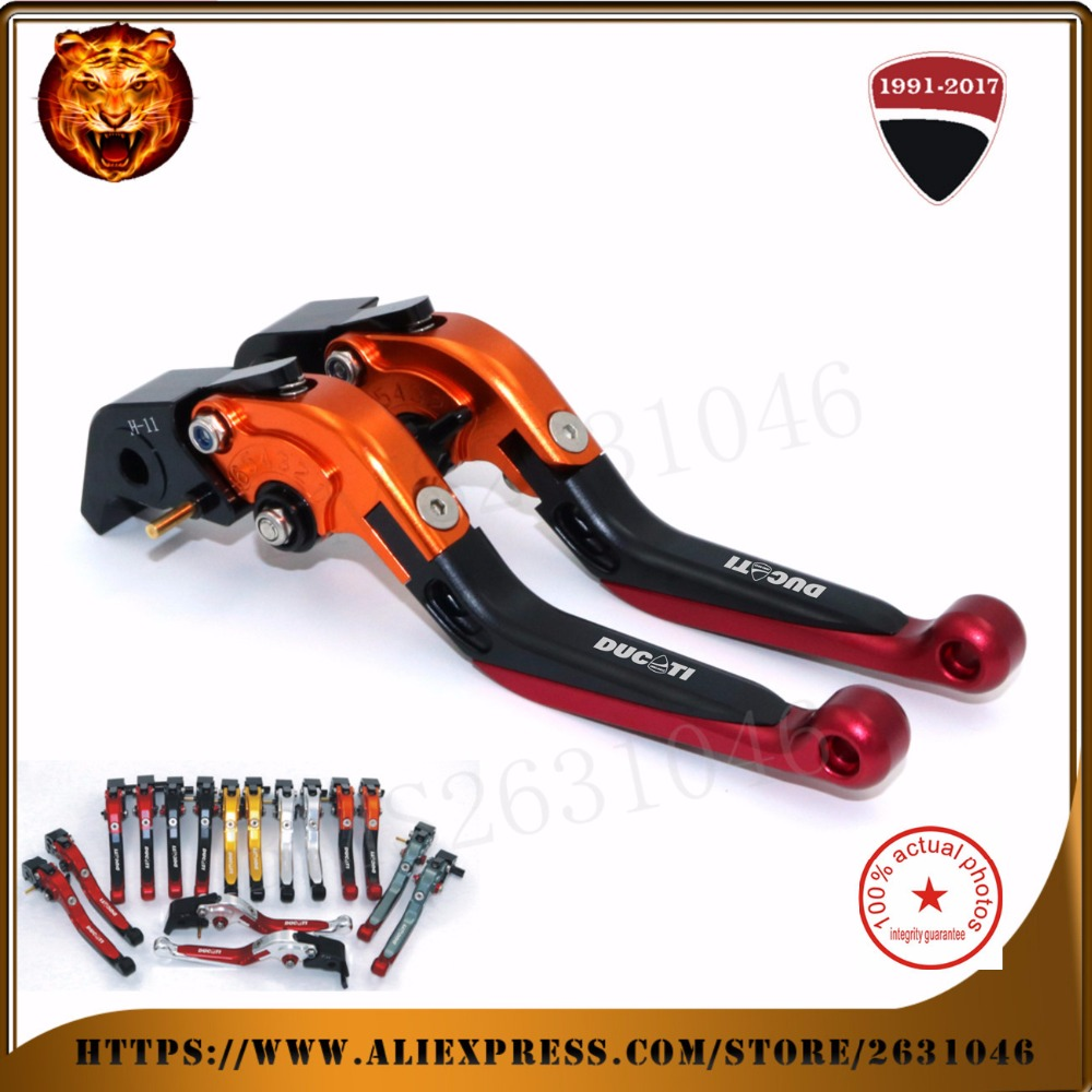 For DUCATI 999/S/R 749/S/R S4RS MONSTER M1100/S/EVO  high quality  Motorcycle Adjustable Folding Extendable Brake Clutch Leve