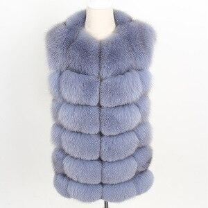 Image 4 - maomaokong real fox fur coat women winter natural fur vest coat natural real fur coat Vests for women   Sleeveless jacket women