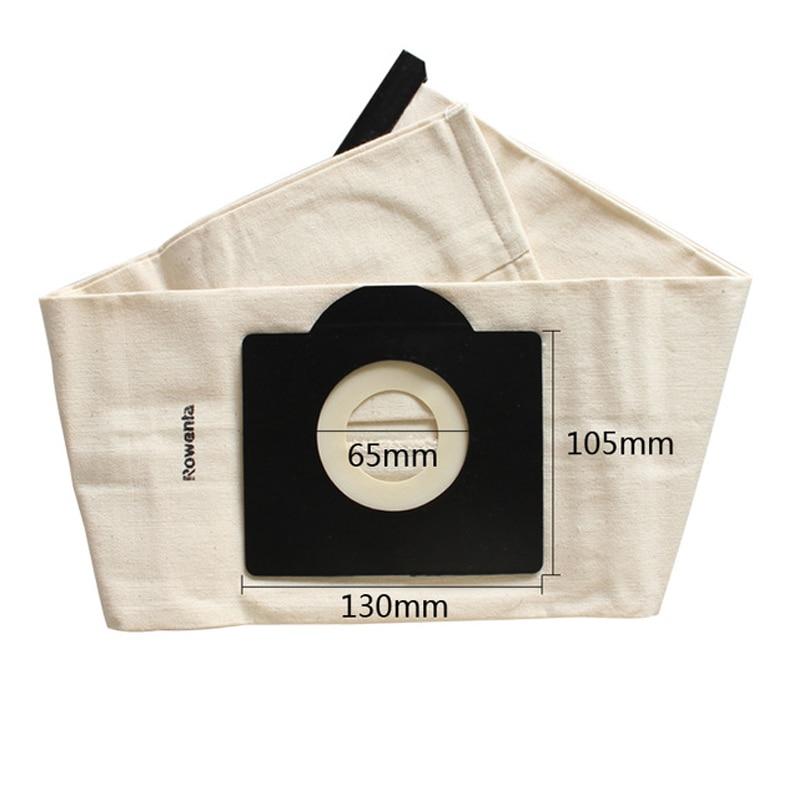 Lowest Price 2019 New Vacuum Cleaner Bags Washable Dust Bag For Rowenta ZR814 Karcher,HR6675,Alaska,Fakir,Fif,Wirbel,Soteco