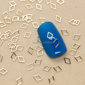 K80 200 unids/lote Rombo Metal Clavo de La Joyería Art Decoración Diminutas Rebanada DIY Accesorios Del Metal Del Perno Prisionero