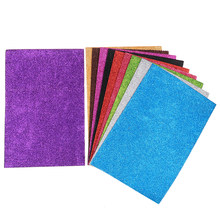10Pcs Single Sided Diy Card Craft Glitter Paper A4 Sheets Fixed Glitter random(China)