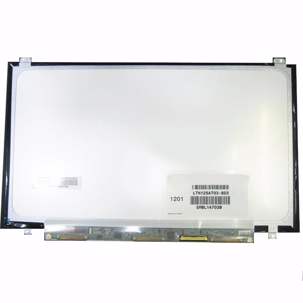 12.5 אינץ 'עבור Samsung 350U2B-A04 NP400B2B NP350U2A A01 LTN125AT03 LTN125AT03-803 LTN125AT03-801 מחשב נייד מסך LCD מטריקס