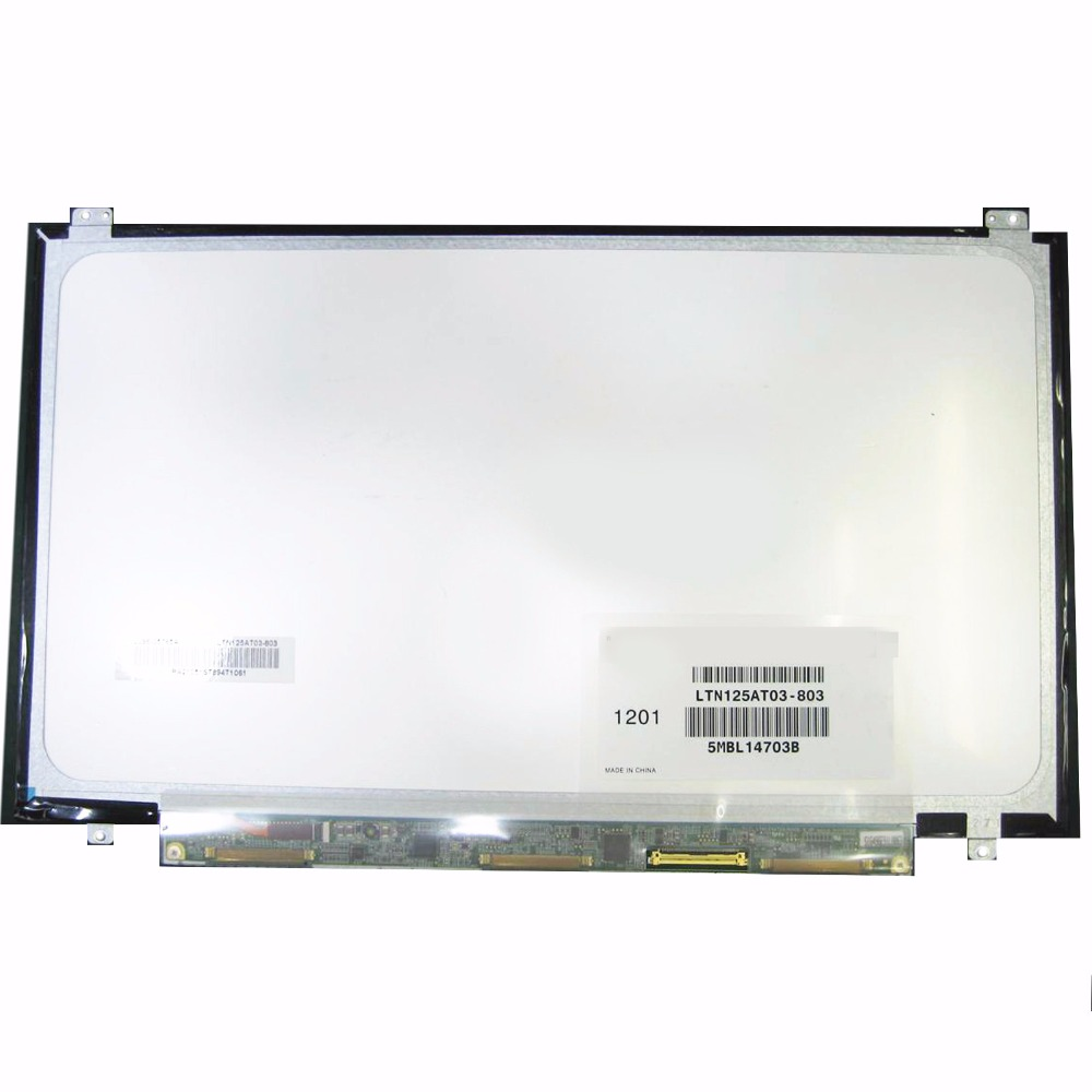 Prix pour Pour Samsung 350U2B-A04 NP400B2B NP350U2A A01 D'origine Nouveau LTN125AT03 LTN125AT03-803 LTN125AT03-801 ordinateur portable LCD écran Matrice 12.5