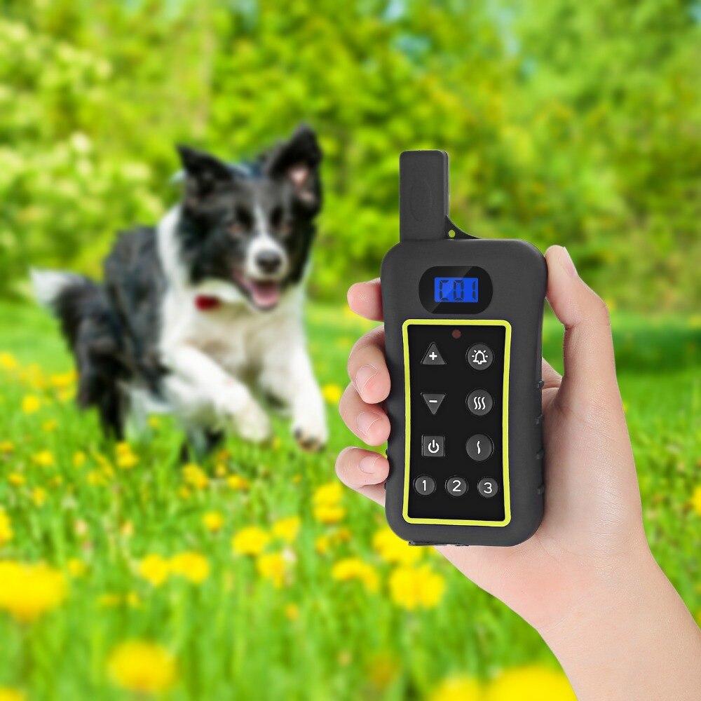 2018 новейший электрический ударный тренировочный ошейник для собак анти лай Регулируемый ошейник против коры для тренировок собак
