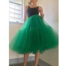 Пышные Разноцветные зеленые юбки-пачки для подружки невесты, вечерние юбки с милыми оборками, фатиновая юбка, Женская эластичная юбка размера плюс, Jupe Femme Saias