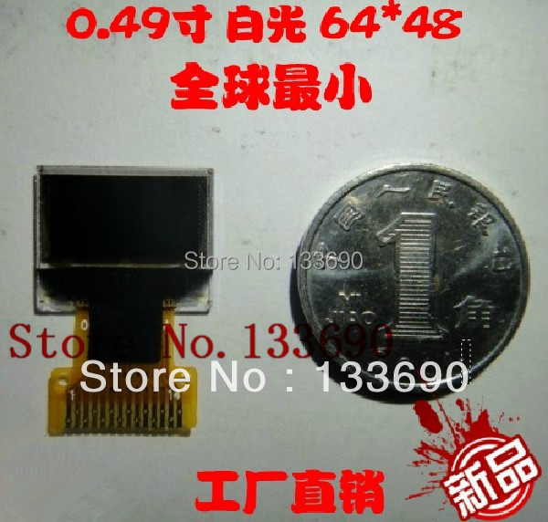 10PCS 0 49 inch OLED screen with 64x32 Resolution white on black Interface IIC I2C Interface