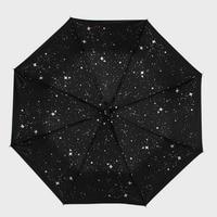 Umbrellas stars umbrellas sunshading sun protection umbrellas men's folding umbrellas black glue sunny rain and sun umbrellas021
