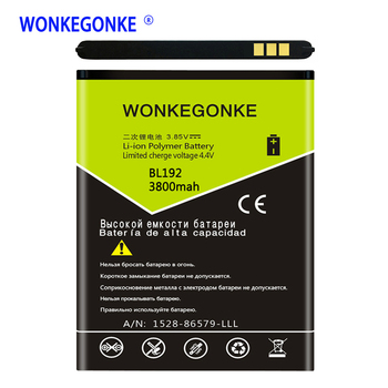 WONKEGONKE BL192 Battery for Lenovo A300 A750 A590 A680 A529 A328T A338T A505E A388T A560 Batteries Bateria image