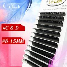 Colash D curl False Mink Eyelashes Extension Individual Natural Soft Lash Professionals 3D Russia volume Silk