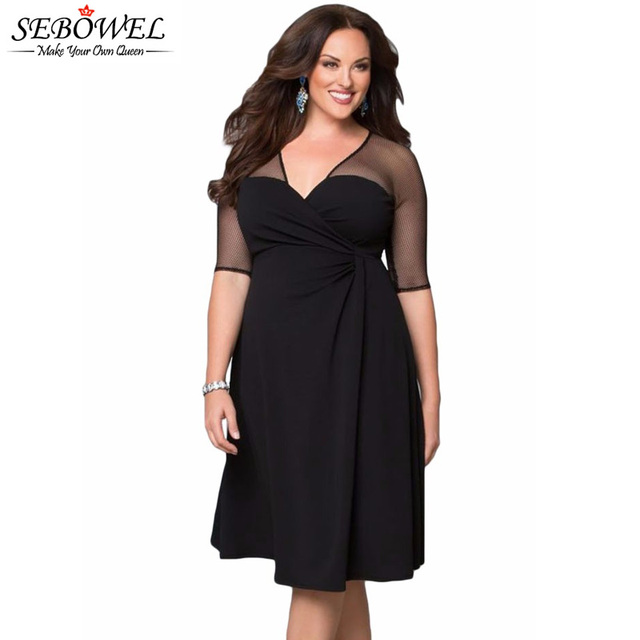 Sexy black dresses plus size