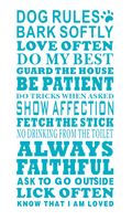 Pet Shop Vinyl Wall Decal Dog Rules House Home Family Love Lick Pet Quote Lettering Mural