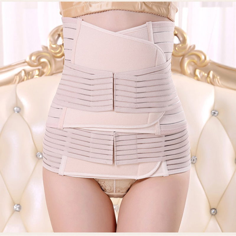 Women Maternity 3Pieces Set Maternity Postnatal Belt After Pregnancy bandage Belly Band waist corset Pregnant Women Slim Shapers pregnant women belt after pregnancy support belt belly corset postpartum postnatal girdle bandage after delivery birth shaper