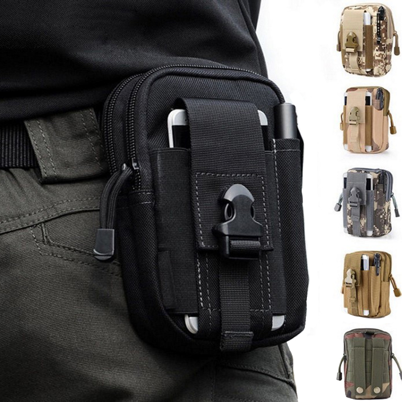TAK YIYING Tactical Molle Pouch Belt Waist Bag Military Fanny Pack Outdoor Pouches Phone Case Pocket For Hunting Bags image